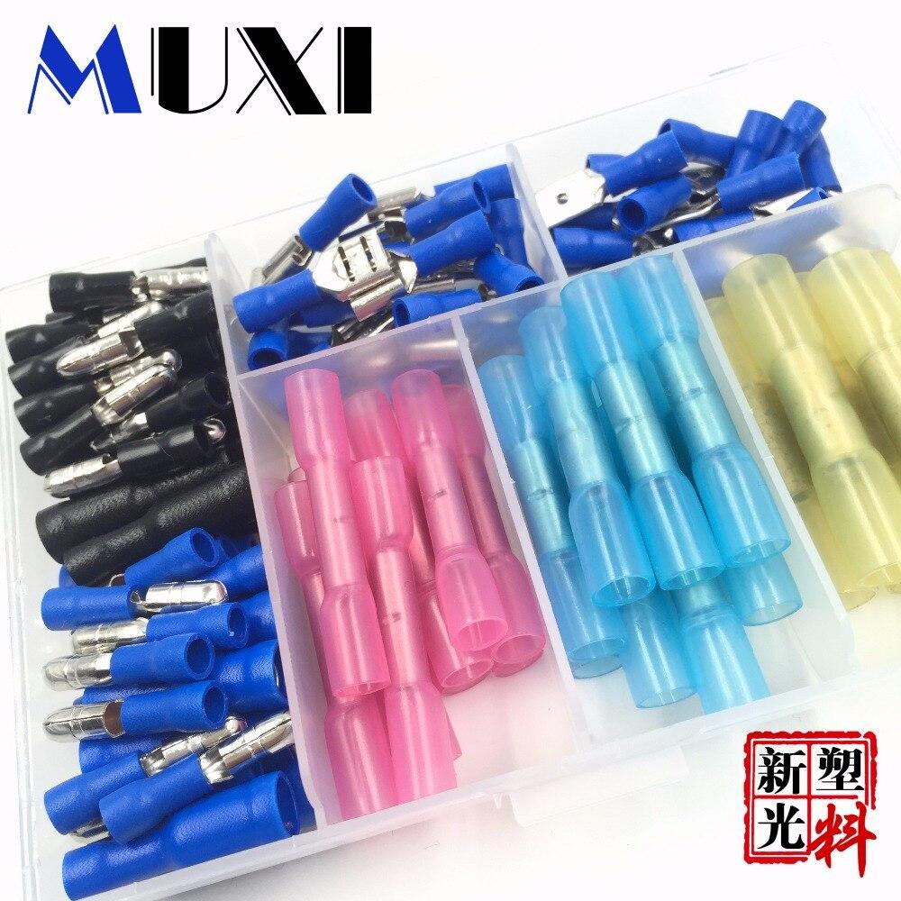 Azul Bala Terminales 6 mm cable de alambre aislado Conector de Cobre Engarzado Eléctrico