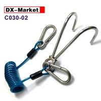 316 Stainless Steel Diving Double Hook , Spring wire rope Reef hook ,C030 02