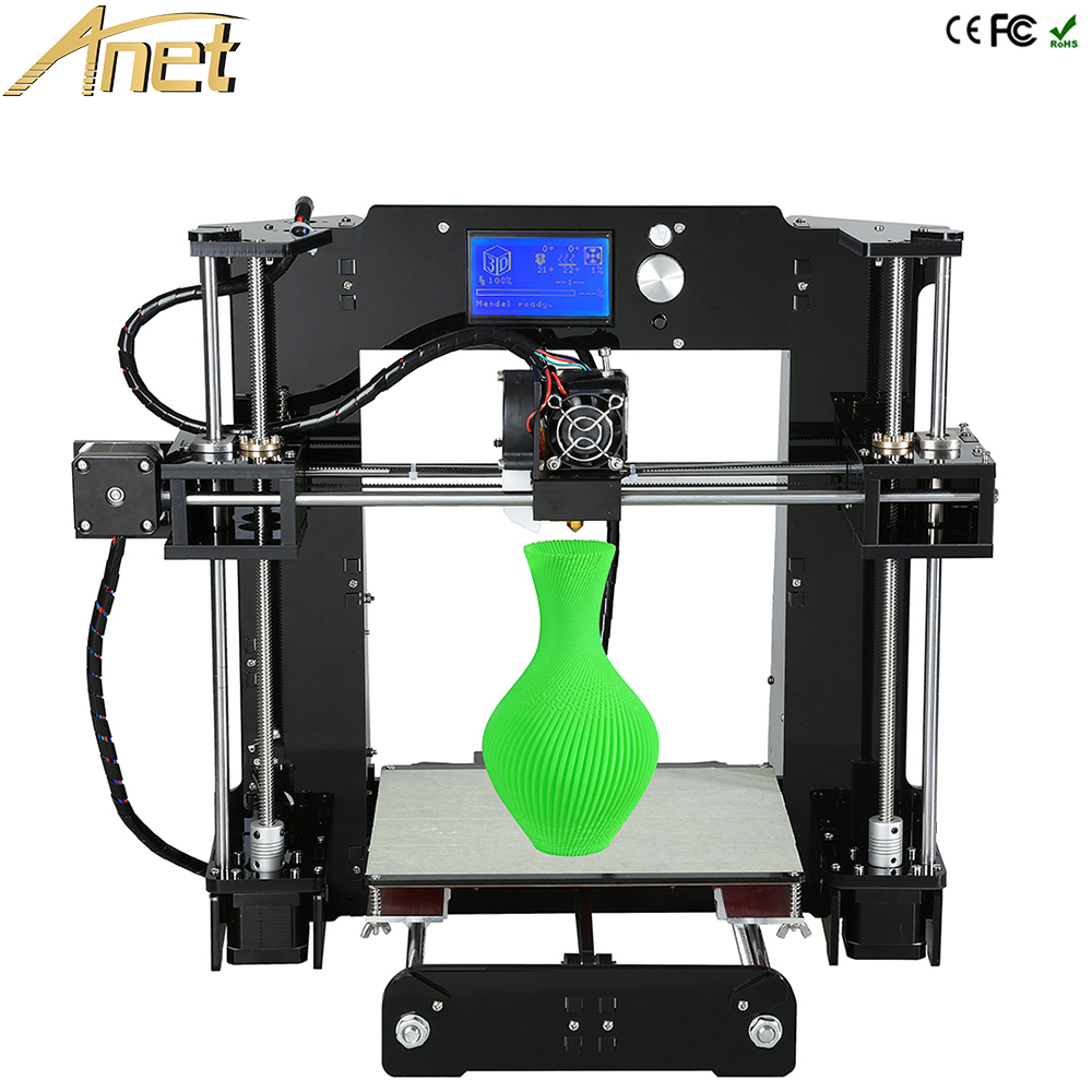 Discount Free 10m filaments Anet A6 Full Acrylic Frame 3d printer diy machine Industrial Extruder Reprap