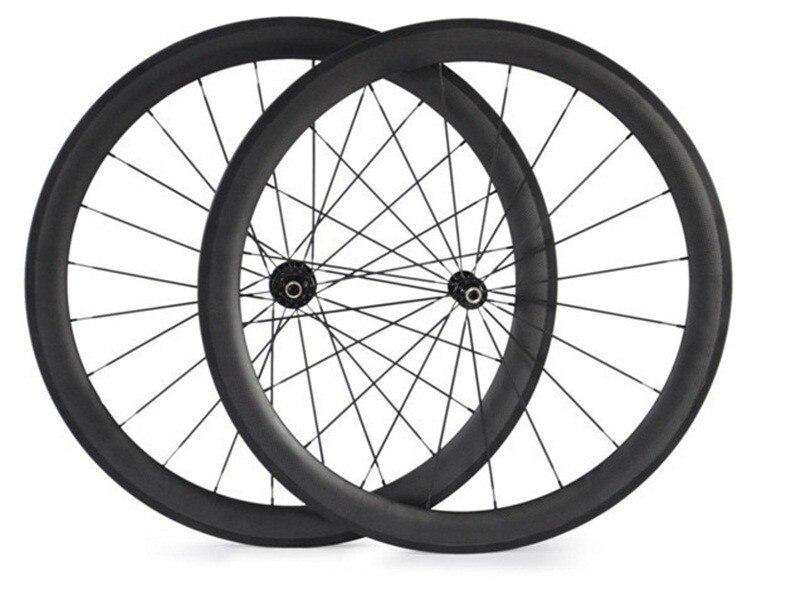 Цена за Бесплатная доставка колеса углерода 50 мм колеса 700C довод ширина 23 мм углерода дороги велосипед колеса велосипеда колеса