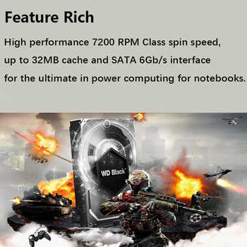 "WD Black 500G 2.5"" SATA III Internal Hard Disk Drive 500Gb gaming game HDD HD Harddisk 32M 7mm 7200 RPM for Notebook Laptop"