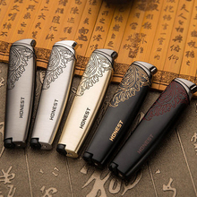 Elegant Pattern Jet Lighter Gas Torch Turbo Lighter Metal Windproof Cigar Pipe Lighter 1300 C Butane No Gas