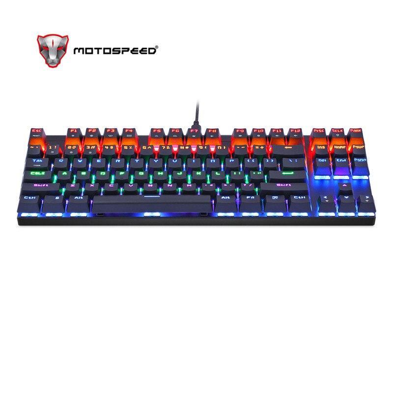 MOTOSPEED K83 Wireless Mechanical Keyboard wireless Bluetooth with LED Backlight 87 Keys RGB Single Backlit Backlight for PC