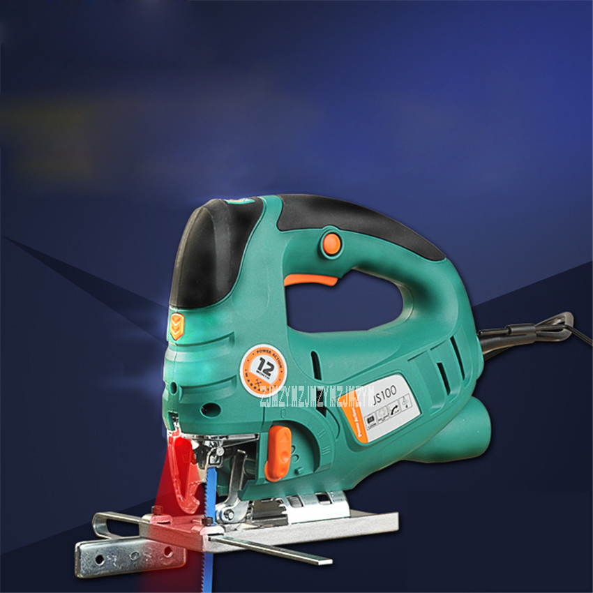 New JS100C Professional Electric Curve Saw Multi-function Mini Home Laser Curve Saws Woodworking Tools Laser Chainsaw 220v 800W jig saw electric woodworking curve saw power tools multifunction chainsaw hand saws cutting machine wood 220v