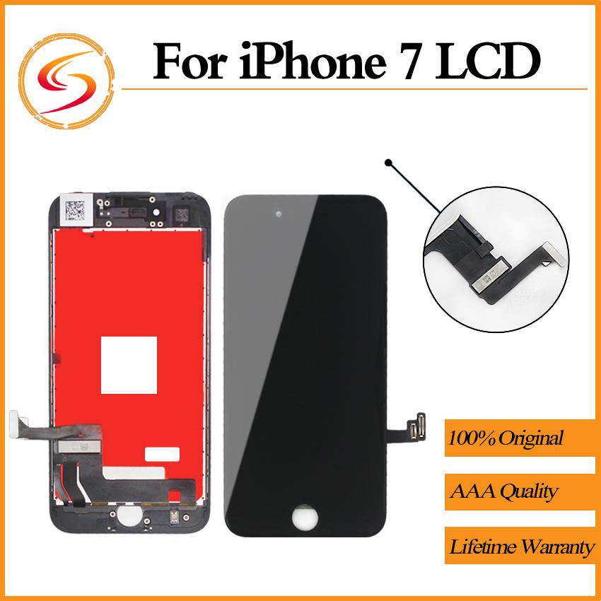 Prix pour 10 pcs/lot aaa + + + qualité pour iphone 7 lcd avec 3d force Écran tactile Assemblée 100% Pas de Dead Pixel Affichage Pantalla Livraison gratuite