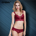 TAINY European American Thin Cotton Cup Lace Furu Lingerie underwear Push Up Sexy women Bra Brief Sets