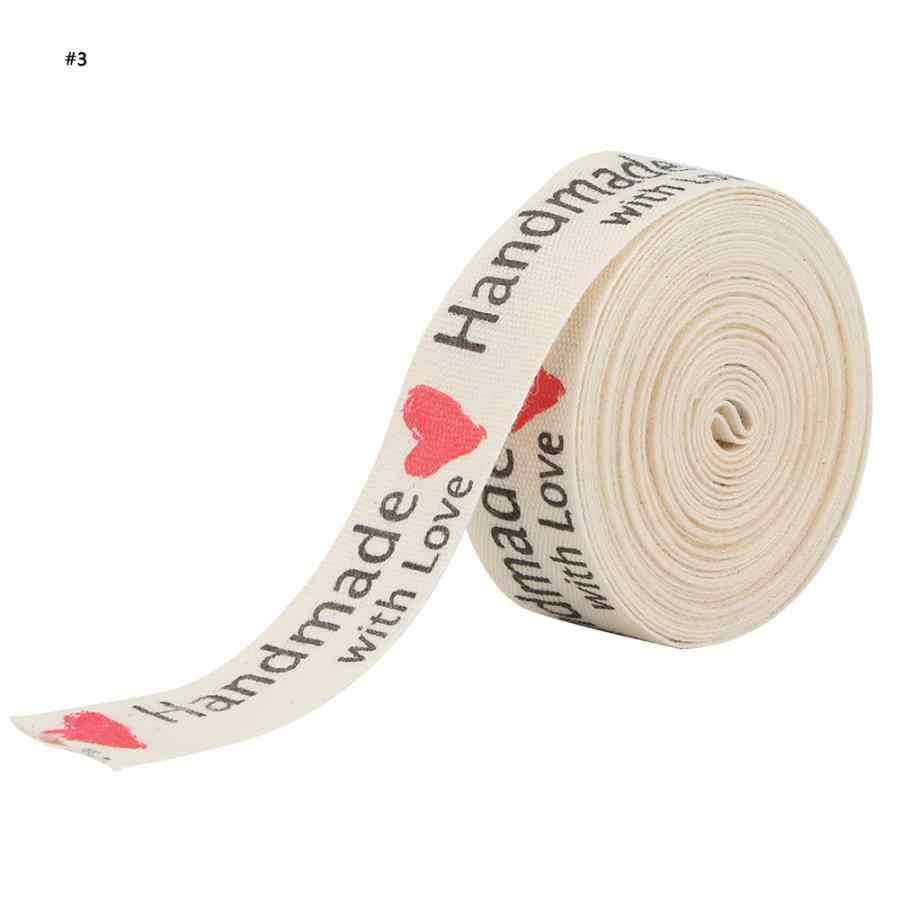 Algodón Natural hecho a mano fuentes cinta 1,5 cm para embalaje de regalo