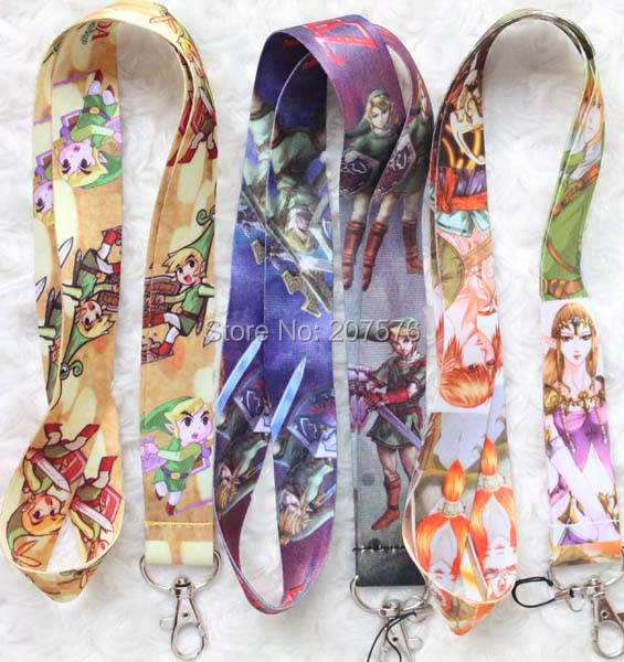 Free Shipping 30/Lot  Cartoon Zelda Mobile Cell Phone Lanyard Neck Straps Party Gifts small wholesale   H-127