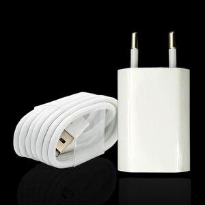 Image 2 - 3 takım/grup ab tak duvar AC şarj cihazı için USB şarj cihazı iPhone 8 Pin USB şarj kablosu + seyahat şarj adaptörü apple iPhone 5 5S 6 6S 7