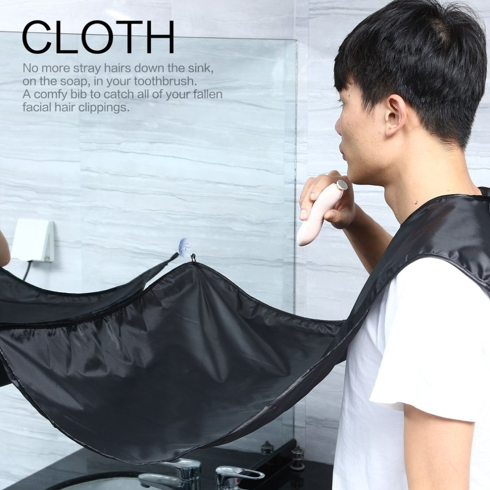 Unisex Facial Hair Beard Shave Haircut Apron Reusable Whisker Cape Catcher Cloth Wrap Hair Trimming Cutting Wrap for Barbershop(China)