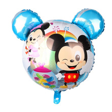 New Baby Mickey Mouse Foil Balloon Head Childrens Toys Happy Birthday Party Decoration Kids Cute