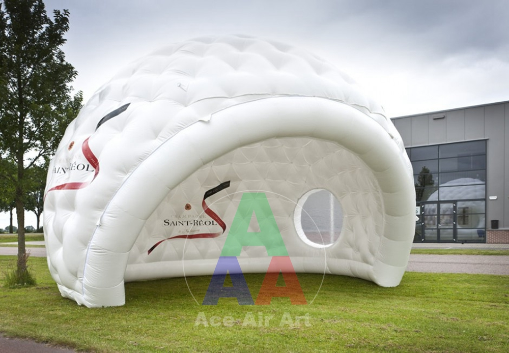 giant white Bar inflatable Igloo for Trade show event with trasparent window inflatable cartoon customized advertising giant christmas inflatable santa claus for christmas outdoor decoration