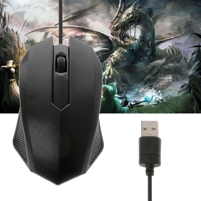 Gaming Mouse 3 Buttons Optical USB Wired Mouse For Computer Laptops ...
