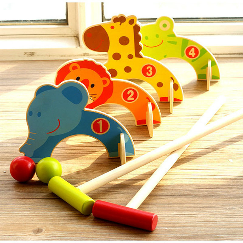 Free shipping Kids wooden More interactive Games Animals Gate Ball Toy, Kids wood Indoor games/toys parent-child interaction