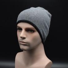 2017 Новый бренд Весной и Осенью мужская тонкой шерсти трикотажные шляпы мужские шапки Зимние мужская Bonnet Gorros Теплая шерсть Caps