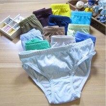 12pcs/Lot Cartoon Boys Panties Kids Briefs Baby Cotton Solid Underwear Underpants 2 to 10Years