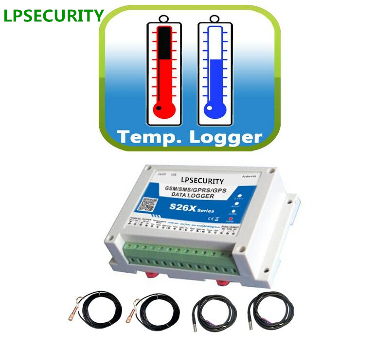 LPSECURITY GSM S260 with 4 sensors S260 GPRS temperature alarm logger,temperature monitor,gprs temperature data logger цены онлайн