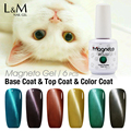 Get 6 Pcs Magnetic Nail Uv Color Gel Soak Off Gel Polish Led Cat Eyes Gel 15ML 48 Colors Available Free Shipping