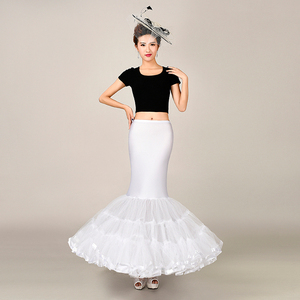 Image 1 - Elastic Fabric Big Fishtail Skirt Mermaid Trumpet Style Wedding Gown Petticoat Crinoline Slip