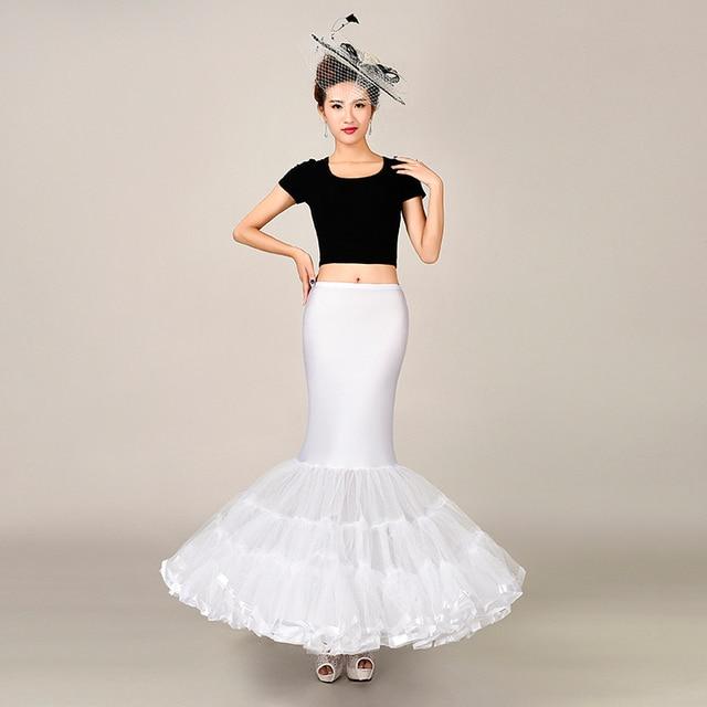 Elastic Fabric Big Fishtail Skirt Mermaid Trumpet Style Wedding Gown Petticoat Crinoline Slip