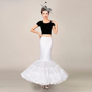 Image 1 - 탄성 패브릭 큰 fishtail 치마 인어 트럼펫 스타일 웨딩 드레스 페티코트 crinoline 슬립