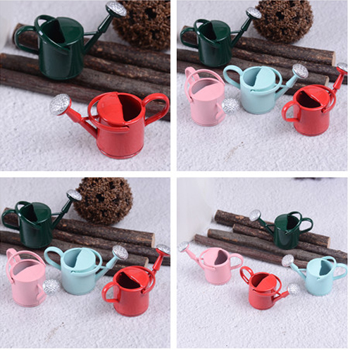 Dollhouse 1/12 Metal Watering Can Garden Miniature Decoration For Children Kids Dolls Acces Miniature Furniture