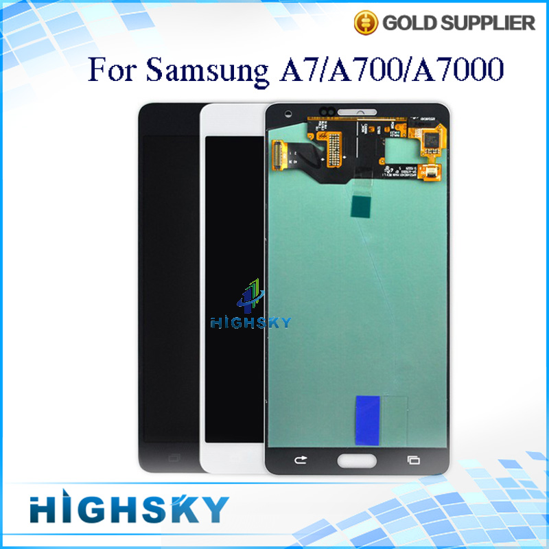 5 PCS/Lot New Brand Test LCD For Samsung Galaxy A7 A700 A7000 Display With Touch Screen Digitizer Assembly Free EMS DHL Shipping dhl free shipping lcd screen lp156wh4 brand new a for dell for lg for lenovo for samsung laptop