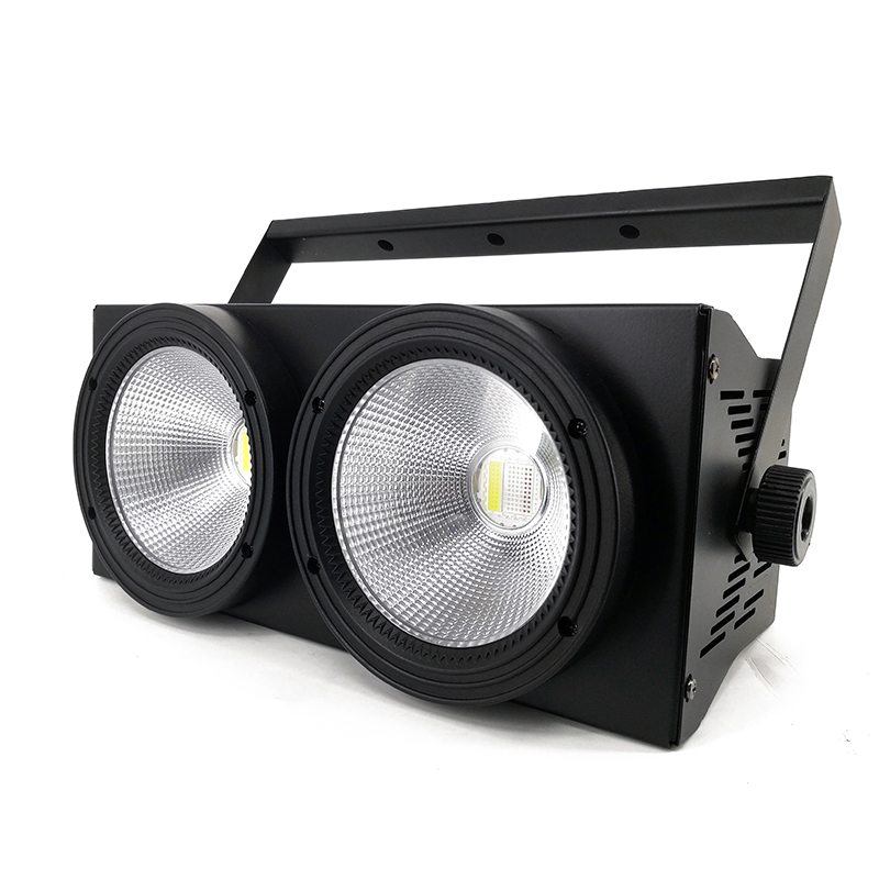 2eyes 2x100w LED COB Light DMX Stage Lighting Effect Led Blinder Light ,Cool White and Warm White 2pcs lot 2 eyes 2x100w led cob light dmx512 stage lighting effect warm white and cold white 200w led blinder light fast shipping
