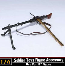 1/6 Scale Light Machine Weapons Model WWII German Maschinengewehr 34 Gun Model Toys For 12″ Action Figure   Body Accessory