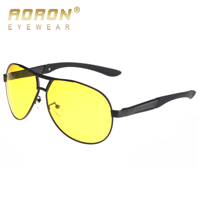 783f43e5604 AORON Men Alloy Polarized Night Vision Sunglasses Women Luxury Anti-glare  Goggles HD Driving Glasses