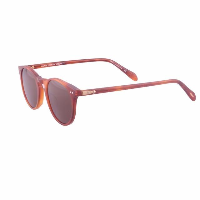 New de la manera gafas de sol redondas pueblos oliver 5256 hombres y mujeres de la marca gafas de sol polarizadas con la caja original