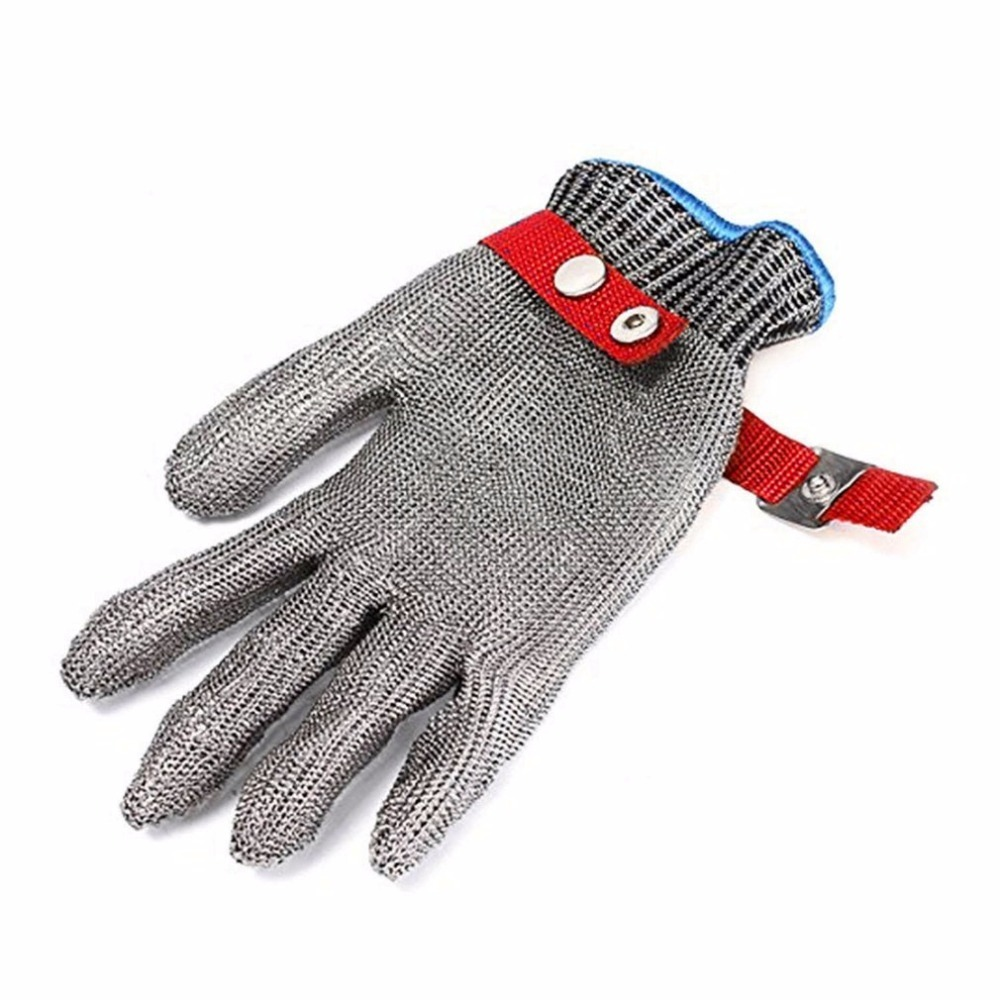 Safety Cut Proof Stab Resistant Stainless Steel Metal Mesh Butcher Glove Health And Safety Easy To Clean Durable Quality Newest new durable hig quality safety cut proof stab resistant protect glove 100