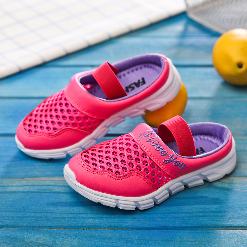 Boys childrens sneakers shoes sandals 2018 new summer girls school casual sandals breathable non-slip soft light running shoes