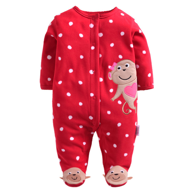 Retail Baby Rompers fleece Body suits Jumping Beans baby clothes Infant Shortall cotton Baby One-pieces 1PCS/LOT ...