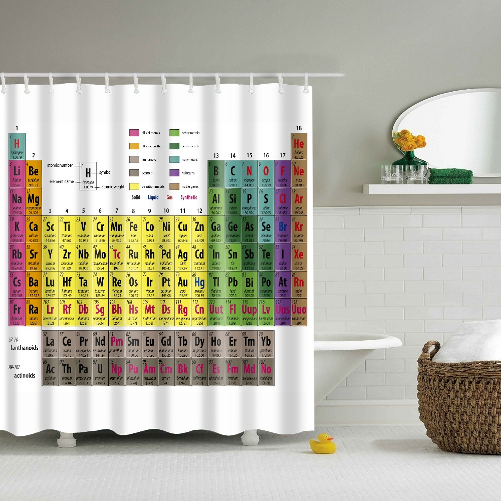 compare prices on periodic table shower curtain free shipping bathroom shower curtain with periodic table of elements 3d printed polyester curtain cortina ducha new design