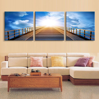 Art painting 3 pieces Distant sky high definition print canvas painting poster and wall art living room picture PL3 008H