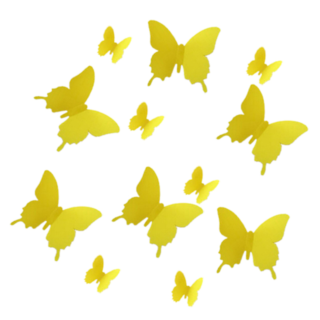 12pcs 3D Butterfly Wall Stickers Butterflies Docors Art / DIY ...