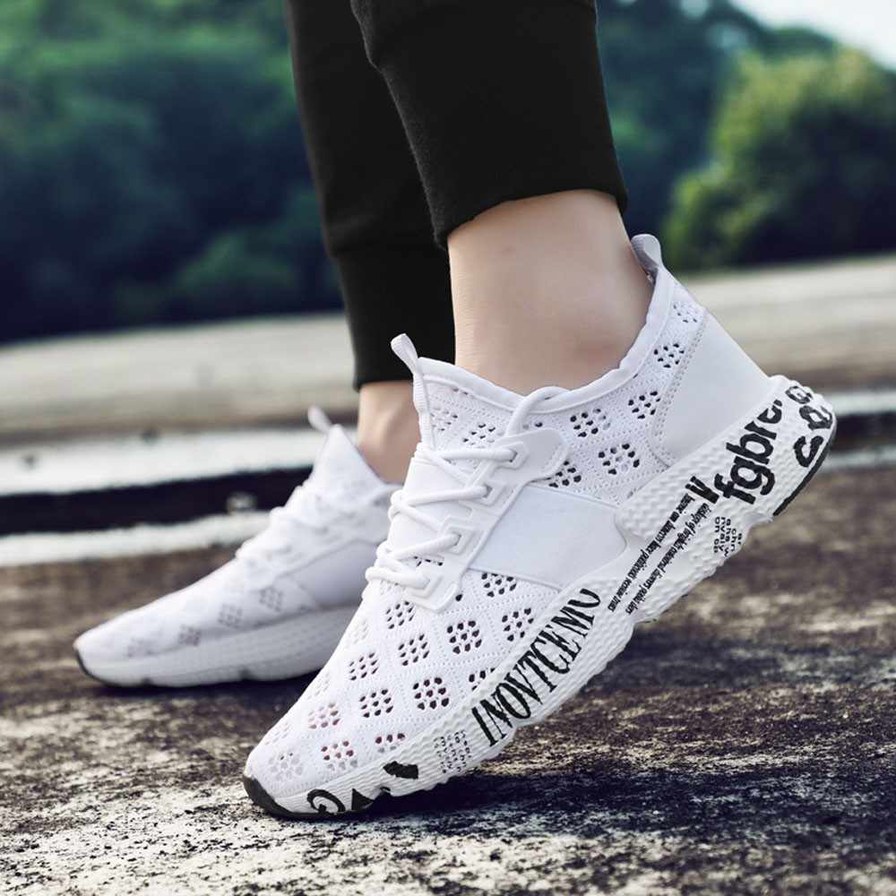 YOUYEDIAN Men Lace-Up white Brand Fashion Flat Loafers Shoes rtable Casual  Breathable Mesh Shoes 396d9a7a5c7c