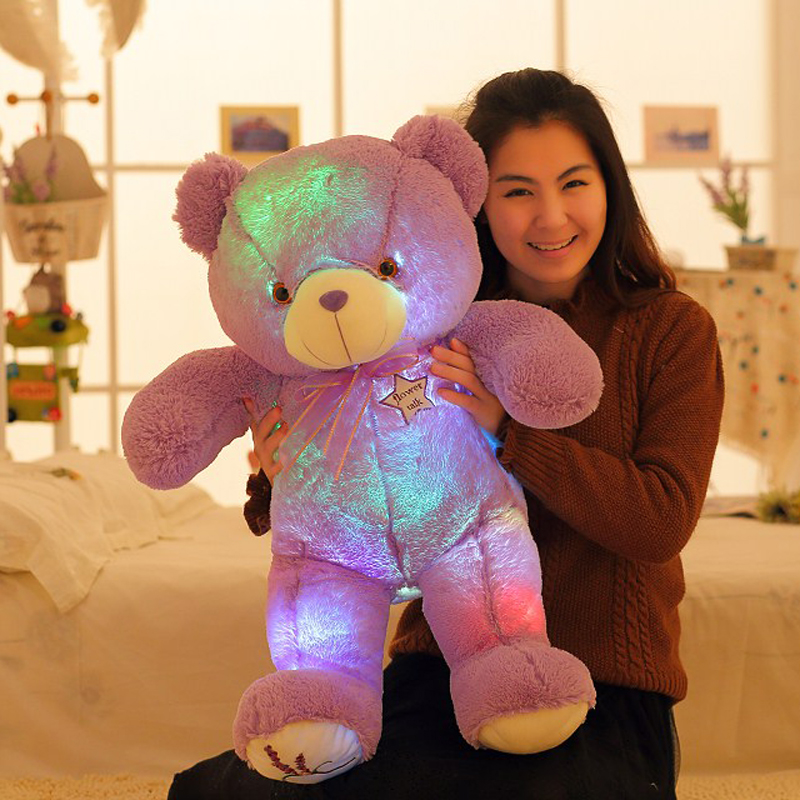 Kids Favorite Creative Glowing Purple Lavender LED Bear