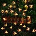30 светодиодов в форме пчелы  Солнечная светодиодная гирлянда  сказочные огни  открытый сад  забор  Декор  Летнее Патио  Рождественская гирля...
