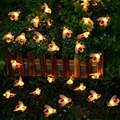 30 LEDs Honig Biene Form Solar Led String Fairy Lichter Outdoor Garten Zaun Decor Sommer Terrasse Weihnachten Girlande Nacht Licht-in Lichterketten aus Licht & Beleuchtung bei