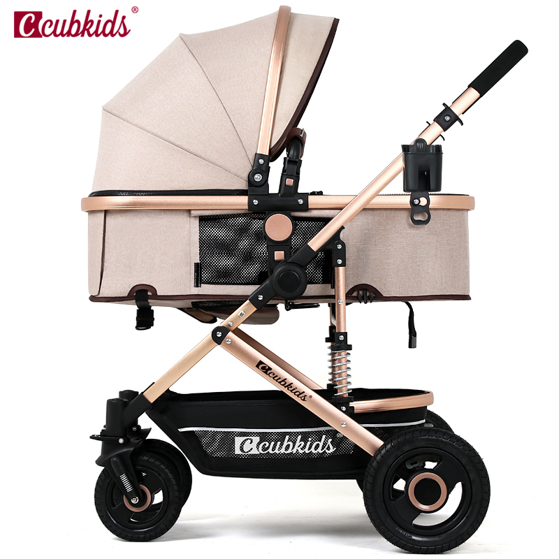 Baby stroller baby car light folding four-wheel shock absorbers baby bb trolleys baby stroller ultra light portable shock absorbers bb child summer baby hadnd car umbrella