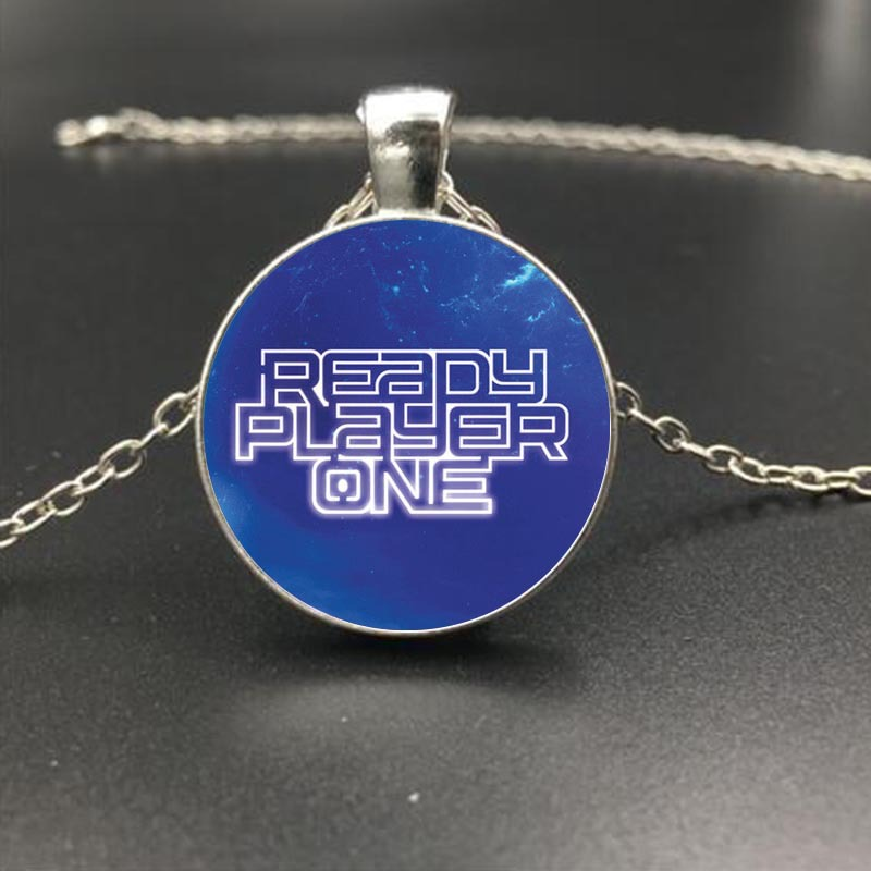 2018 New Movie Ready Player One Keychain Fashion New Glass Pendant For Children Toy Womens Men Fans Chain Gift