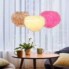 Nordic Swan Feather AC 220V Retro Modern LED Chandelier Simple Gloss E27 Base Indoor Living Room Light Kitchen Restaurant цена