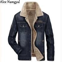 HEISMR C Men S Denim Jacket Male Brand Winter Jacket And Coat Man Plus Velvet Thick