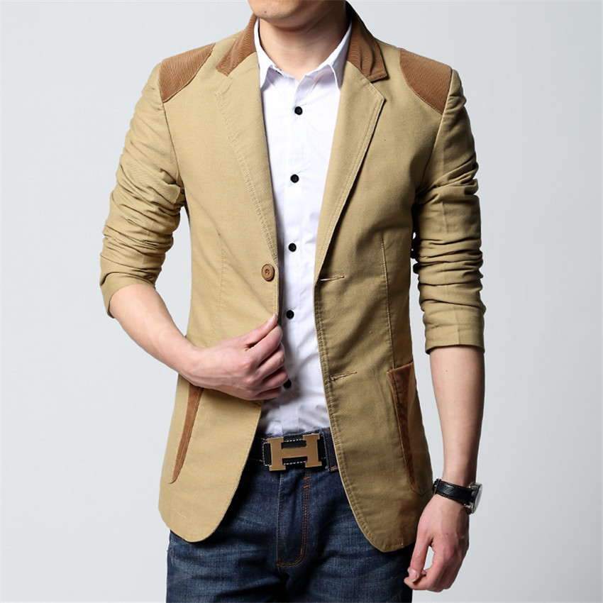 2015 New Spring Blazer Men's Suit Jacket Men Blazer Cultivating ...