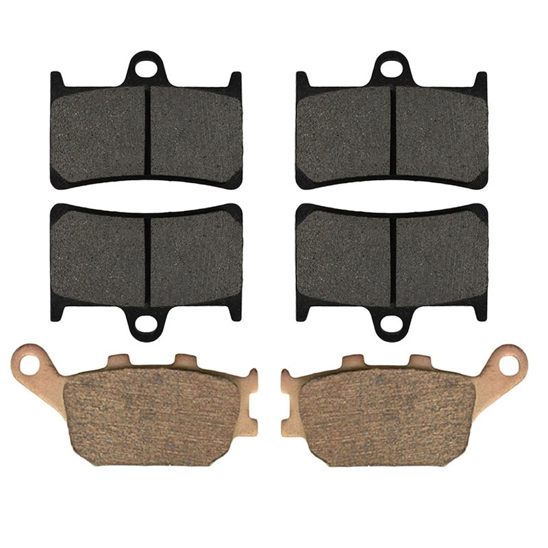 Motorcycle Front and Rear Brake Pads for YAMAHA YZF-R6S (YZFR 6 S) (298 mm Rotor) 2006-2009 Brake Disc Pad motorcycle front and rear brake pads for yamaha fz6r 2 piston caliper 2009 2010 black brake disc pad