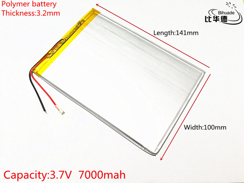 1pcs/lot Liter energy battery 3.7V 7000mAH 32100141 polymer lithium ion battery Li-ion battery for tablet pc 9.7 inch taipower onda 8 inch 9 inch tablet pc battery 3 7v 6000mah 3 wire 2 wire lithium battery