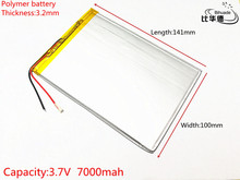 1pcs/lot Liter energy battery 3.7V 7000mAH 32100141 polymer lithium ion battery Li-ion battery for tablet pc 9.7 inch