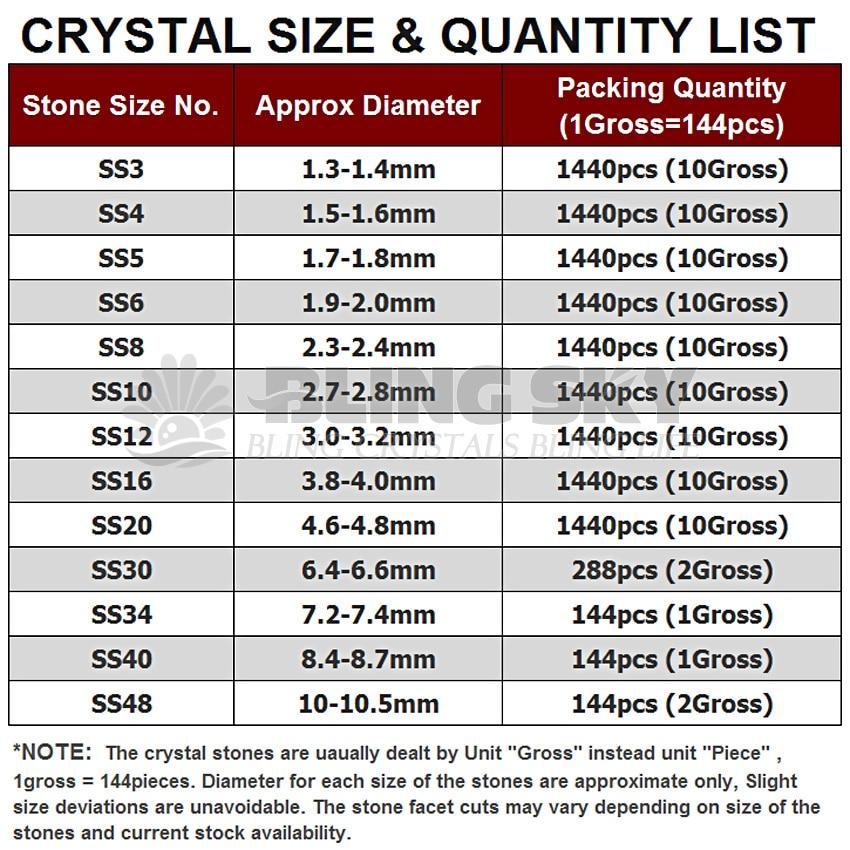 Prozirne mješavine SS3-SS10 SS4-SS30 kristali za ukrašavanje - Umjetnost, obrt i šivanje - Foto 4